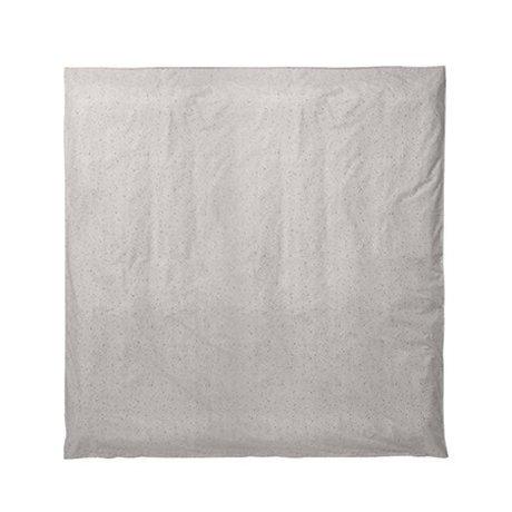 Ferm Living Housse de couette Hush voie lactée couleur crème 220x220cm