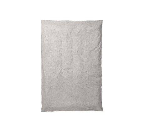 Ferm Living Housse de couette Hush laiteux crème couleur 150x210cm