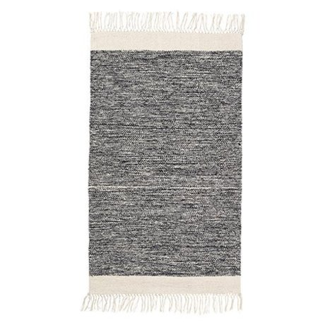 Ferm Living Teppich Melange schwarz Baumwolle 60x100cm