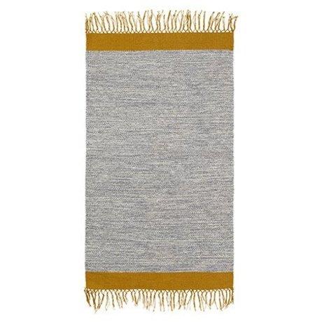 Ferm Living Tæppe melange grå gul bomuld 60x100cm
