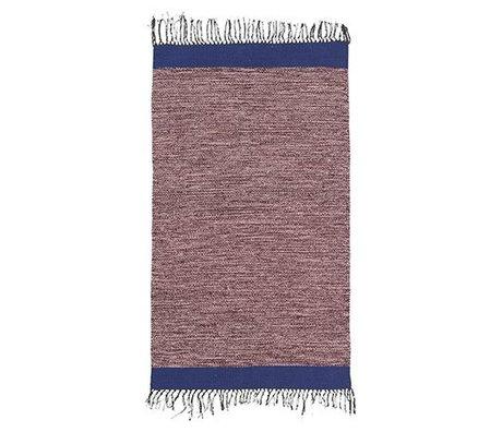 Ferm Living Teppich Melange rosa blau Baumwolle 60x100cm