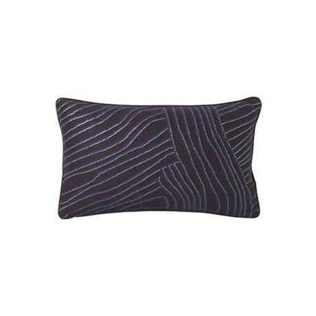 Ferm Living Pude Koraal violet blå 40x25cm