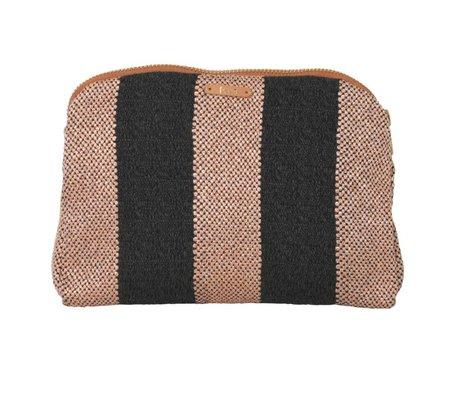Ferm Living Toiletry Bag Salon Bengal pink grå 22x15.5cm