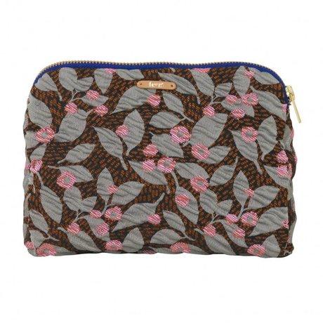 Ferm Living Toiletry Bag Salon Flower rust pink 22x15.5cm