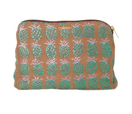 Ferm Living Toiletry taske Salon Ananas orange grøn 22x15.5cm