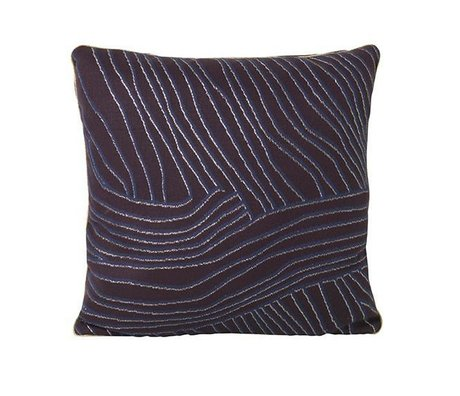 Ferm Living Pude Koraal violet blå bomuld velours 40x40cm