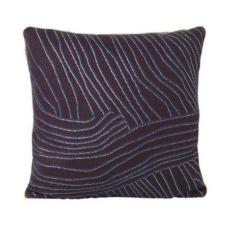Ferm Living Zierkissen Koraal violett blau Baumwolle Velours 40x40cm