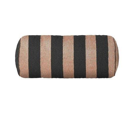 Ferm Living Pude Bolster Bengal pink grå 41.5x Ø16.5cm