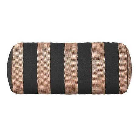 Ferm Living Zierkissen Bolster Bengal rosa grau 41.5x Ø16.5cm