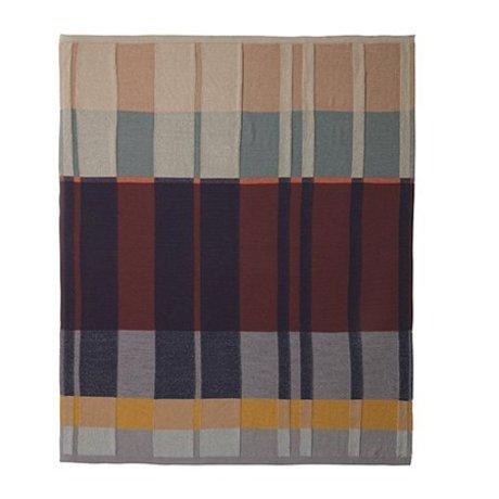 Ferm Living Decke Medley Knit Baumwolle mehrfarbig 160x120cm