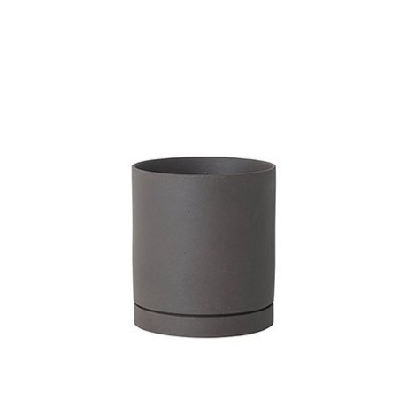 Ferm Living Blumentopf Sekki grau Keramik large Ø15,7x17,7cm
