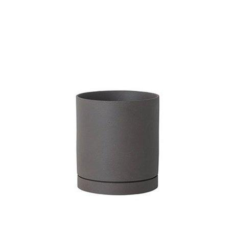 Ferm Living Pot de fleur Sekki gris céramique grand Ø15,7x17,7cm