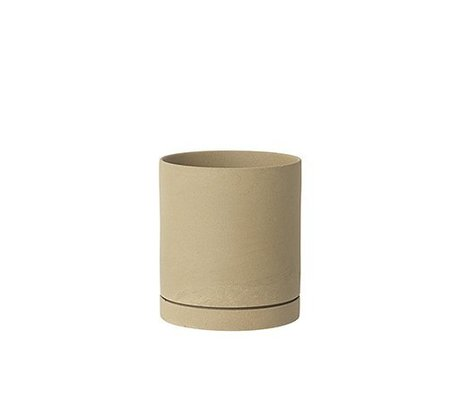 Ferm Living Blumentopf Sekki beige Keramik large Ø15,7x17,7cm