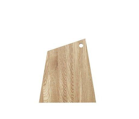 Ferm Living Skærebræt asymmetrisk naturligt olieret træ stort