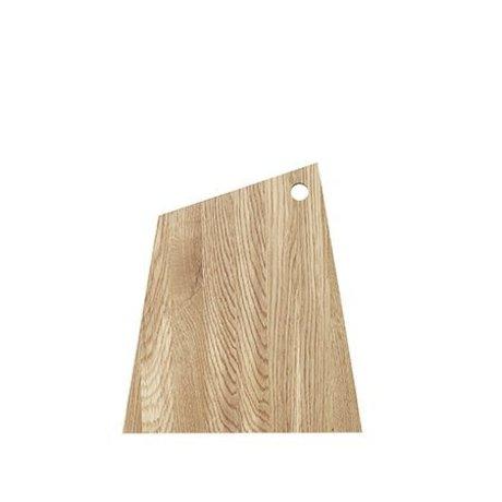 Ferm Living Tabla de cortar madera natural aceitada asimétrica grande