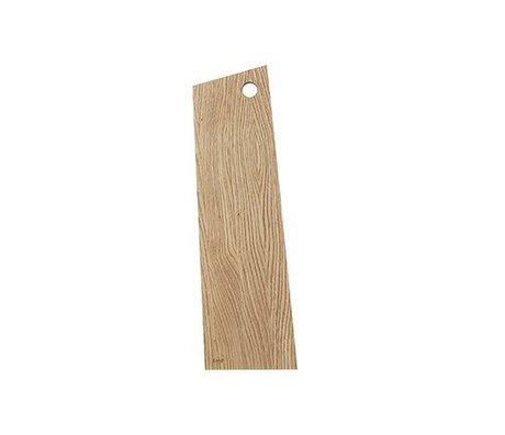 Ferm Living Tabla de cortar media de madera aceitada natural asimétrica