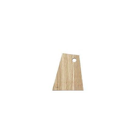Ferm Living Tabla de cortar asimétrica madera engrasada natural pequeña