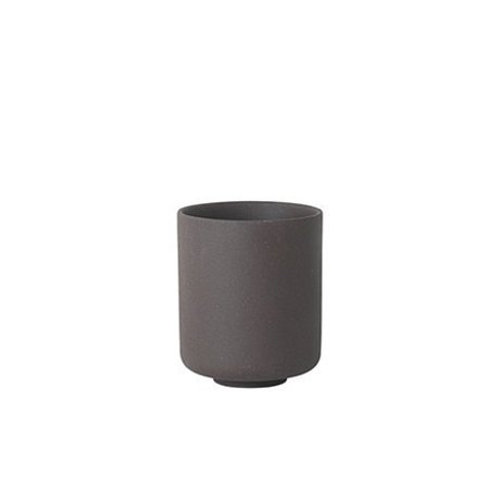 Ferm Living Coppa Sekki in ceramica grigia grande Ø7.7x9.2cm