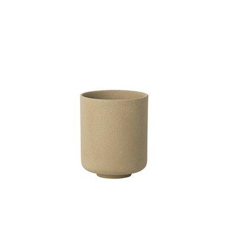 Ferm Living Cup Sekki beige ceramic large Ø7.7x9.2cm