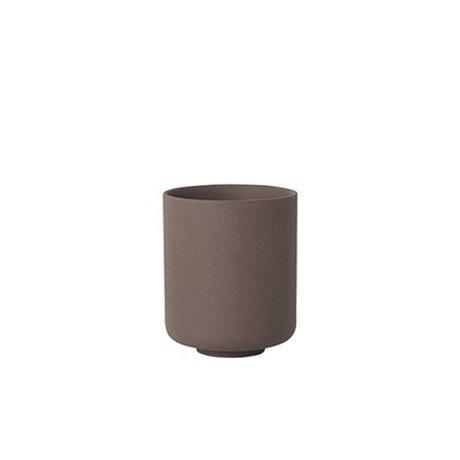 Ferm Living Cup Sekki red brown ceramic large Ø7.7x9.2cm