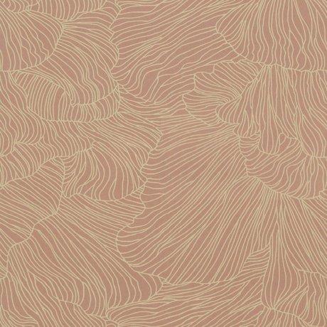Ferm Living Tapet Coral pink beige 53x1000cm
