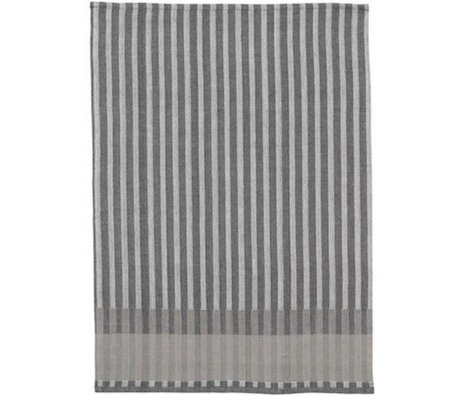 Ferm Living Torchon Grain Jacquard coton gris 70x50cm