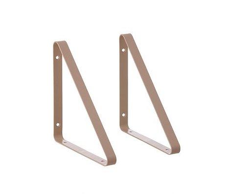 Ferm Living Hylde støtte pink metal 24.5x24.5x2.5cm