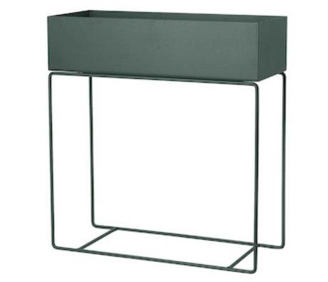 Ferm Living Box für Pflanze dunkelgrün Metall 60x25x65cm