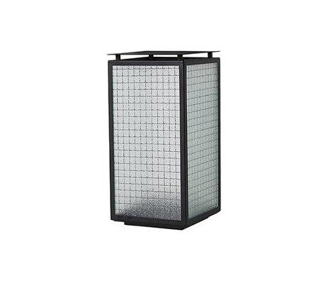 Ferm Living Lantern Haze sort stålglas 16.5x16.5x33cm