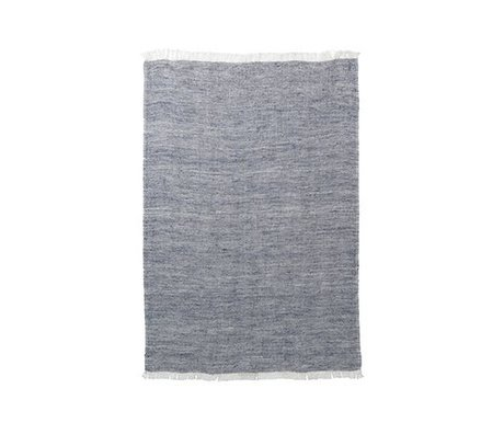 Ferm Living Küchenhandtuch Blend blau Baumwolle Leinen 70x50cm