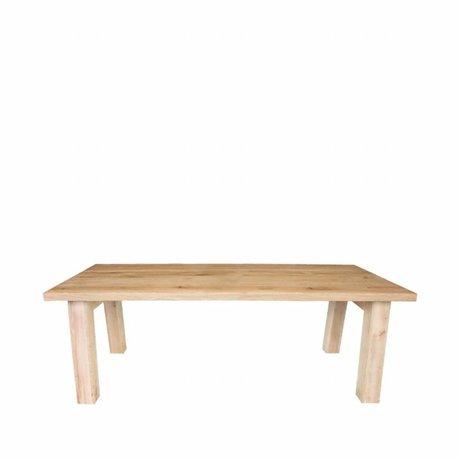 LEF collections Table à manger Daan en chêne brun 220x100x76cm