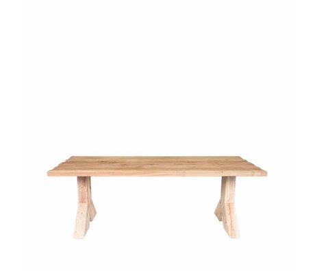 LEF collections Spisebord Jip brun egetræ 220x100x76cm