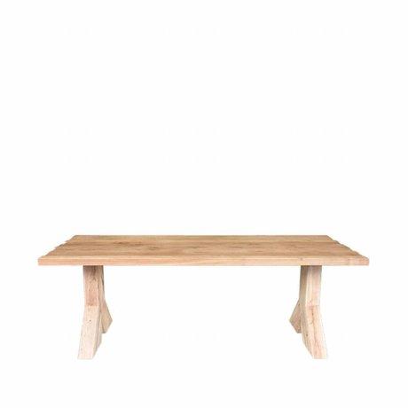 LEF collections Table à manger Jip marron en bois de chêne 220x100x76cm