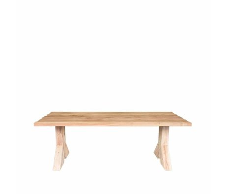 LEF collections Table à manger Jip chêne marron 240x100x76cm