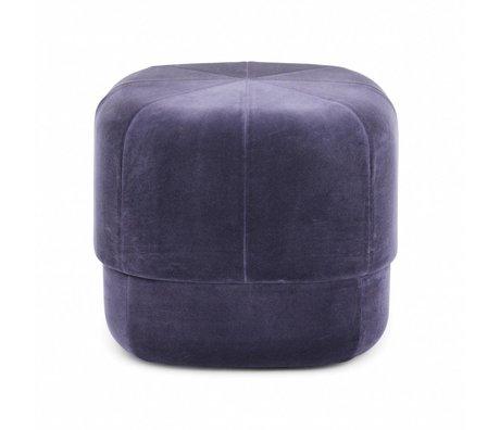 Normann Copenhagen Puff Circus violet daim petit 40x46x46cm