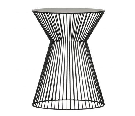 LEF collections Table d'appoint Suus en métal noir Ø35x46cm