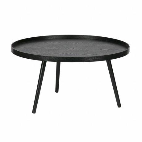 LEF collections Table d'appoint Mesa XL noir bois 78x39cm