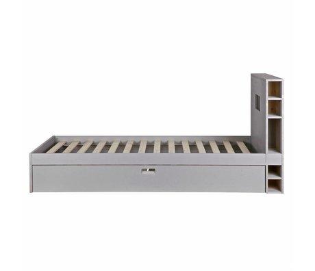 vtwonen Lit Store avec tiroir à matelas en bois gris 100x218x96cm