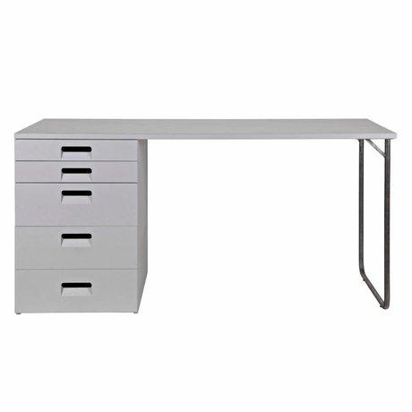 vtwonen Bureau Magasin gris bois 75x150x60cm