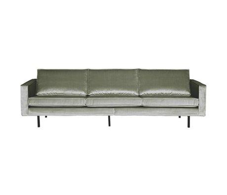 BePureHome Sofa Rodeo 3-Sitzer Khaki grün Samt 85x277x86cm