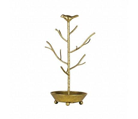 BePureHome Smykkerholder deco antik messingfarvet guldmetal 40x25x25cm