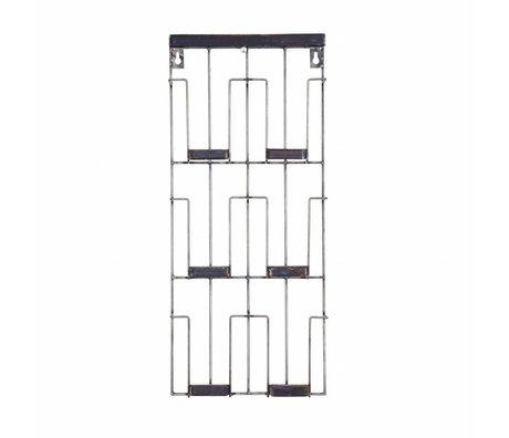 BePureHome Support de carte papier noir métal 24x55x4.5cm