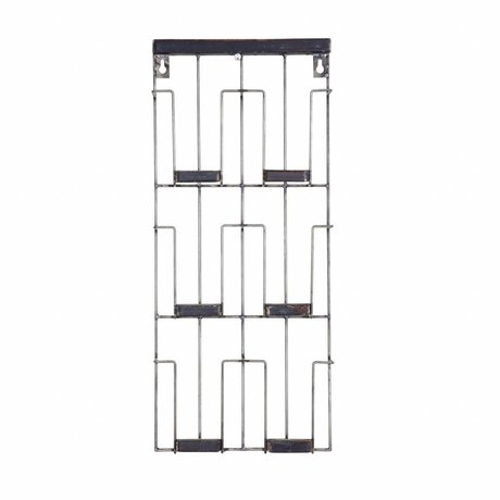 BePureHome Kartenständer Paper schwarz Metall 24x55x4.5cm