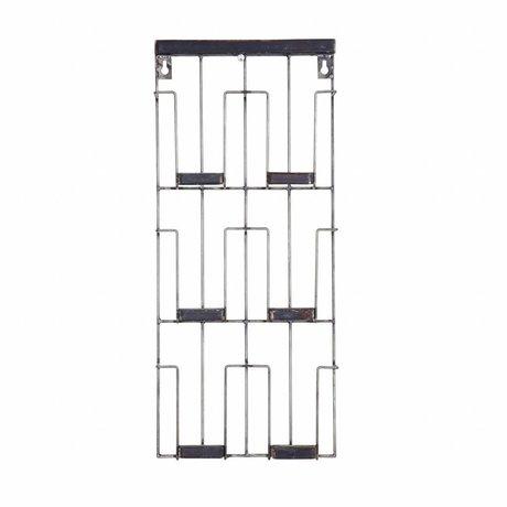 BePureHome Kortstativ Papir sort metal 24x55x4.5cm