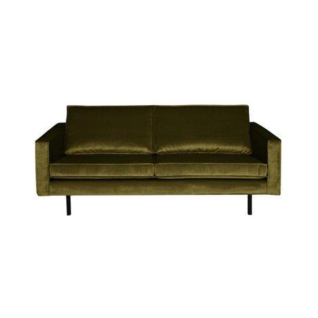 BePureHome Sofa Rodeo 2,5-Sitzer olivgrün Samt 190x86x85cm