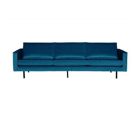 BePureHome Sofa Rodeo 3-Sitzer blau Samt 85x277x86cm