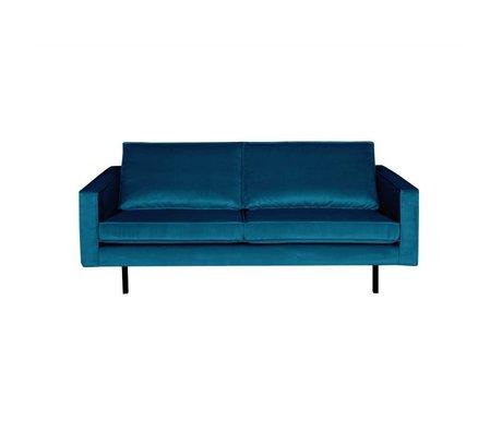 BePureHome Sofa Rodeo 2,5 sæders blå fløjl 190x86x85cm