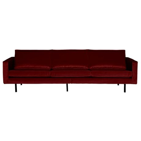 BePureHome Sofa Rodeo 3-Sitzer rot Samt 85x277x86cm