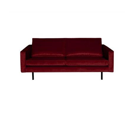 BePureHome Sofa Rodeo 2,5 seter rød fløjl 190x86x85cm