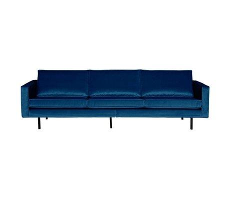 BePureHome Sofa Rodeo 3-Sitzer Nightshade dunkelblau Samt 85x277x86cm